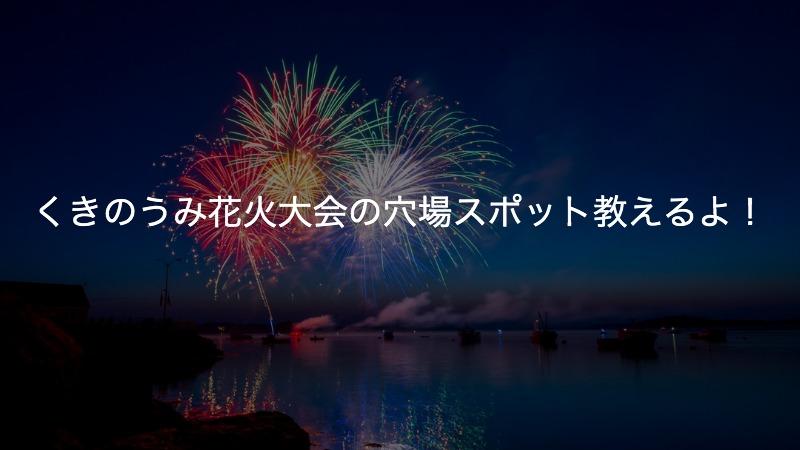 く きのう み 花火 大会 2019 中止